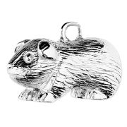 Guinea Pig Charm 3D Sterling Silver Charms